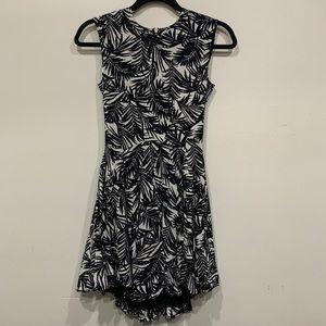 H&M Black & White Floral Skater Dress